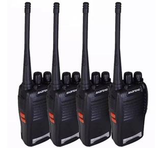 4 Radio Ht Uhf 16 Canais Comunicador 12 Km 777s Profissional