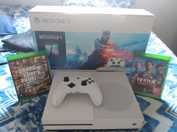 Xbox One S 1tb + Controle + Gta 5 E Fifa 19