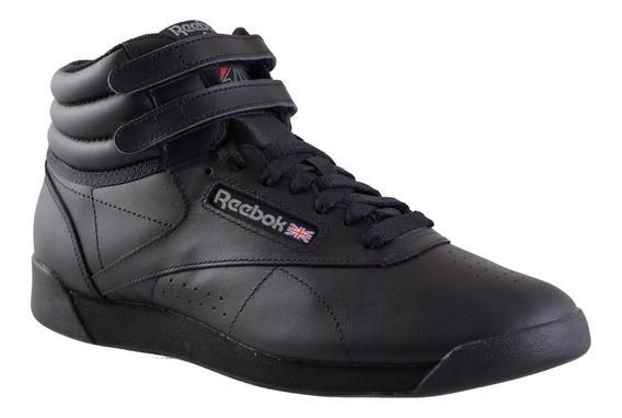 Zapatillas Reebok Freestyle High Mf Importada Mujer Negro