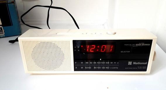 Rádio Relógio National Rc 6070 Anos 80 Fm Am Caixa Sem Uso