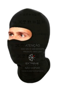 Balaclava Touca Ninja Extreme Frio Intenso Revestida Com Lã