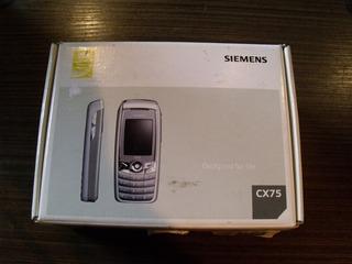 Celular Siemens Cx75 Raridade Completo Na Caixa