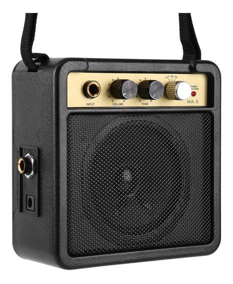 Amplificador Mini Audio Guitarra Acústica Elétrica Baixo P10