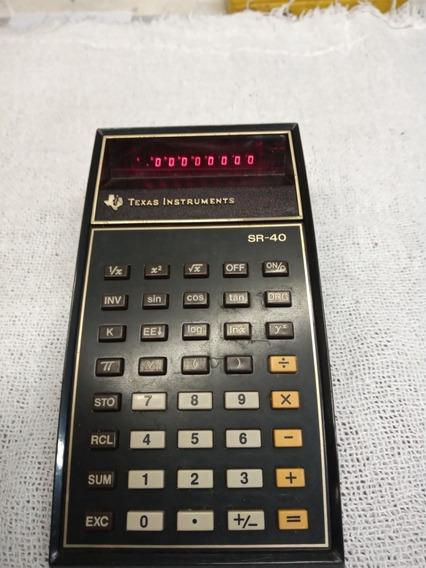 Calculadora Texas Instruments Sr-40 Anos 1980