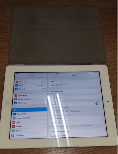 iPad 2, 16gb, Branco, Semi Novo + Capa