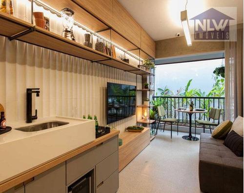 Studio Com 1 Dormitório À Venda, 24 M² Por R$ 305.700,00 - Campo Belo - São Paulo/sp - St0158