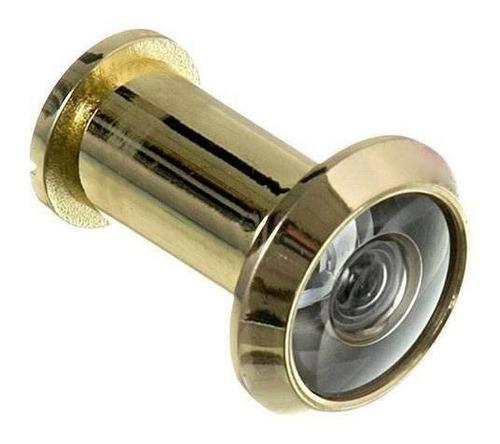 Visor Olho Magico Segurança Dourado Produzido Em Latão