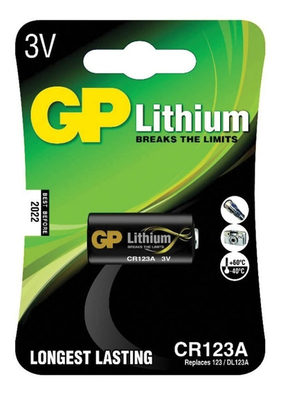 Bateria Lithium Photo Cr123 3v Gp Batteries