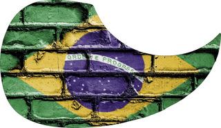 Escudo Palheteira Resinada Violão Aço Sônica Brazil Brick