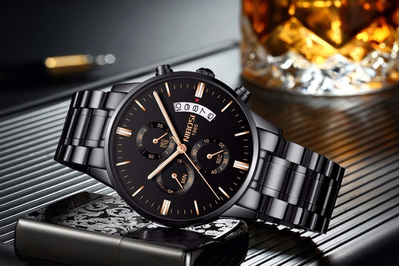 Relógio Masculino Nibosi Social Esport Para Homens