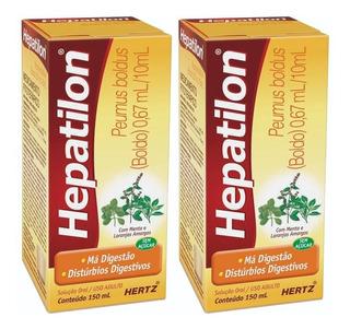 Hepatilon Boldo Contra Má Digestão Azia Mal-estar 2x 150ml