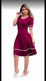 Vestido Evangelico Rodado Modelo Gode