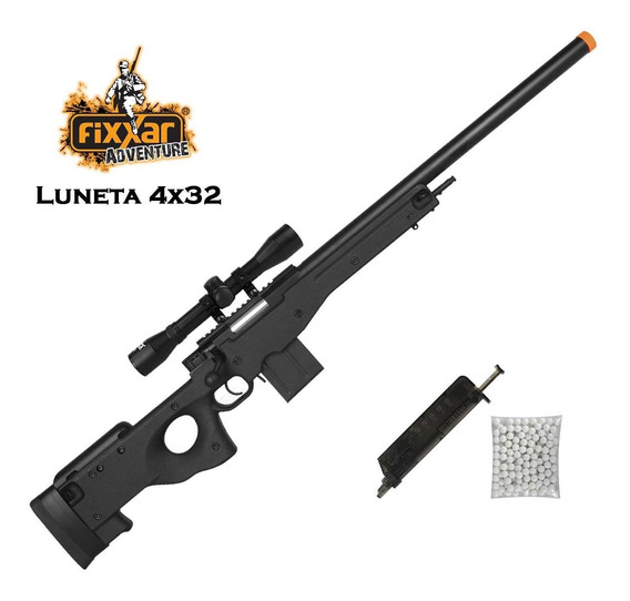 Rifle Airsoft Spring Sniper Cyma L96 Cm.703bk + Luneta 4x32