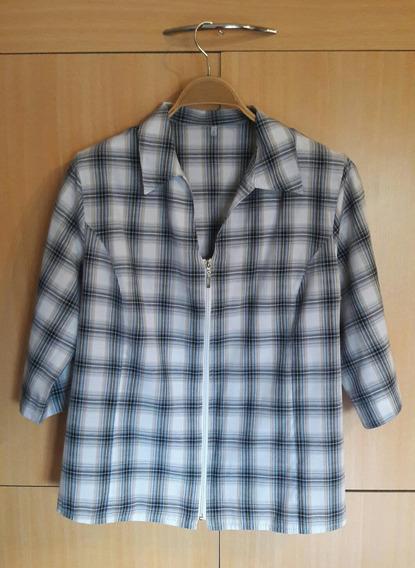 Blusa Camisola Con Cierre Impecable! Talle 6