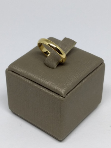 Anel Compromisso Masculino Feminino Aliança Dourada Cd 812