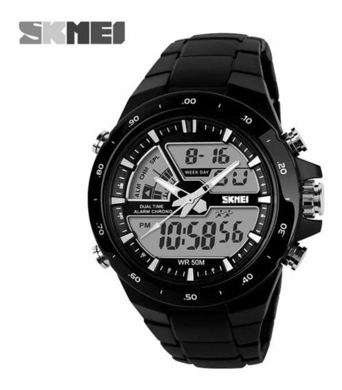 Relógio Masculino Preto Original Skmei 1016 - Original