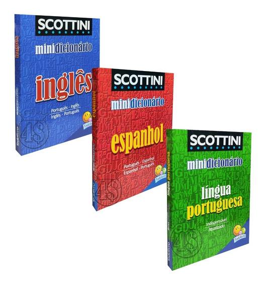3 Dicionario Ingles Espanhol Ingles Escolar Mini Nova Ortogr