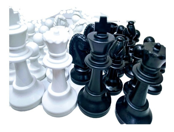 Jogo Peças Xadrez Plástico Maciço,rei 8,6-intelectus Suzano