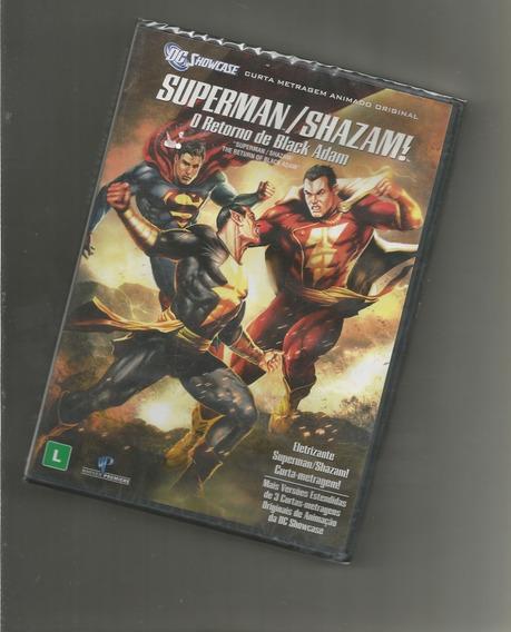 Superman Shazam O Retorno De Black Adam Dvd Lacrado
