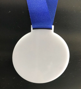 220 Medalha Branca Para Personalizar