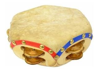 Pandero Cuequero Chapa Bronce - Queen Instrumentos Musicales