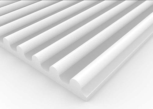 Imagen 1 de 6 de Panel Acústico Premium Blanco Ignifugo - Ciclos 50mm