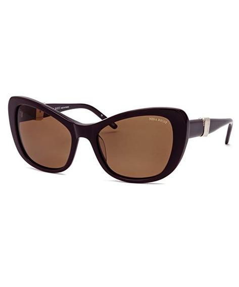 Óculos De Sol Nina Ricci 3238 Acetato Vinho Gatinha Feminino