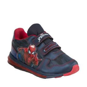 Tenis Casual Spiderman 2722 Marino/rojo Ligeros Con Luz