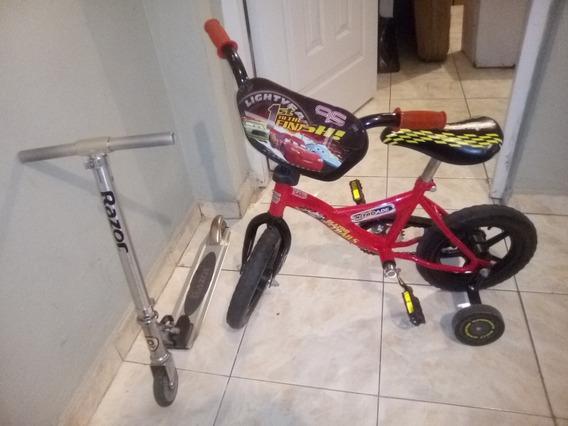 Bicicleta Aro 12 Y Patineta