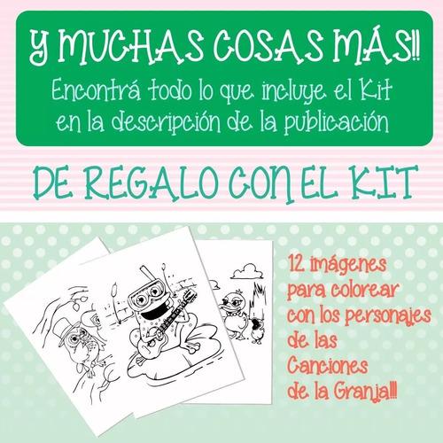 Kit Imprimible Canciones De La Granja Zenon - Promo 2x1