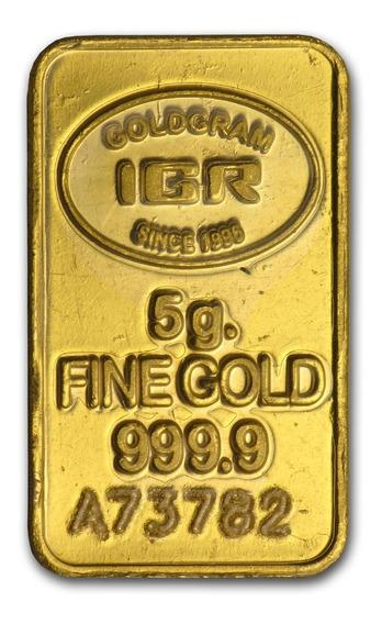 Robmar-lingote De 5 G. De Oro Puro 0,999 De 24 K, Estambul