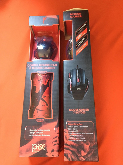 Combo Mouse Gamer + Mouse Pad Modelo 1886 Mouse Gamer