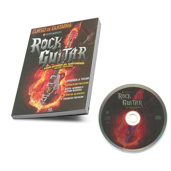 Curso De Guitarra Peter Bursch´s Rock Guitar Livro + Cd