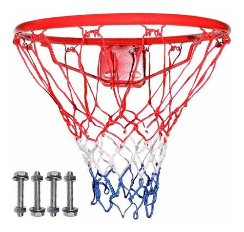 Aro Basket Basquet Medida Oficial Nª7 + Red + Bulones El Rey