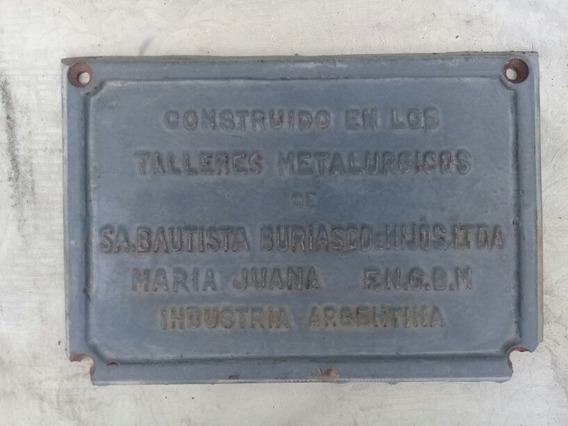 Placa Antigua Ferrocarril - Maria Juana