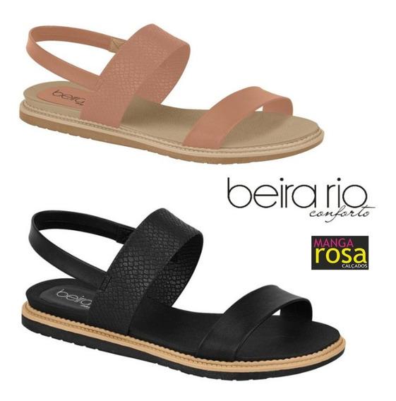 Sandália Feminina Flats Casual Beira Rio 8400101 Do 34 Ao 40