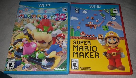 Mario Maker E Mário Party 10 Nintendo Wii U