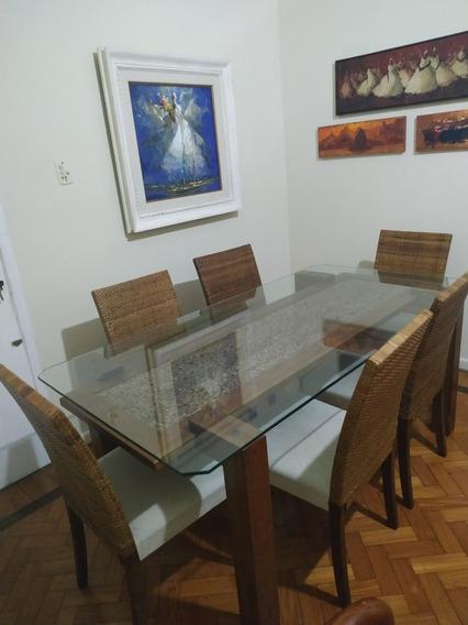 Mesa De Jantar Sierra Com 6 Cadeiras