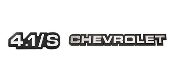 Emblemas Cromados 4.1/s E Chevrolet Opala 88 89 90