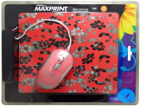 607278 Mouse Ótico Usb Maxprint + Base - Pcs E Notebook