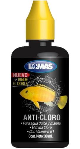 Anti Cloro Gotas 30 Ml Peces Acuario Lomas