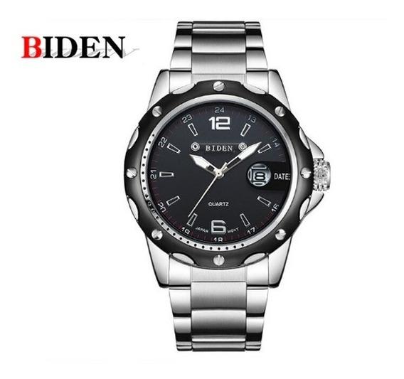 Relógio Biden 0012 Original Pulseira E Caixa De Aço
