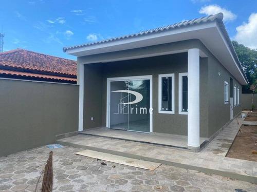 Casa Com 3 Dormitórios À Venda, 85 M² Por R$ 385.000,00 - Jardim Atlântico Central (itaipuaçu) - Maricá/rj - Ca1028