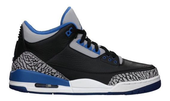 Zapatillas Air Jordan 3 Retro - Sport Blue - Únicas!