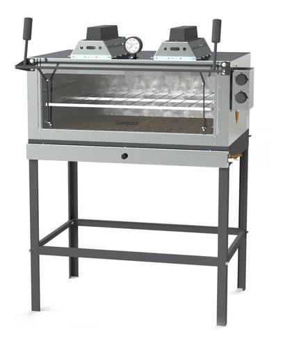 Horno Pizzero Compact Piso Piedra Gas Fli800 Gratinador Fama