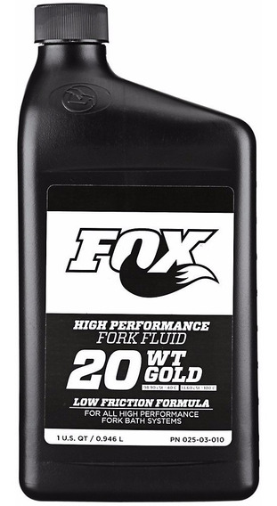 Aceite Fox 20wt Gold Para Suspension 1 Litro