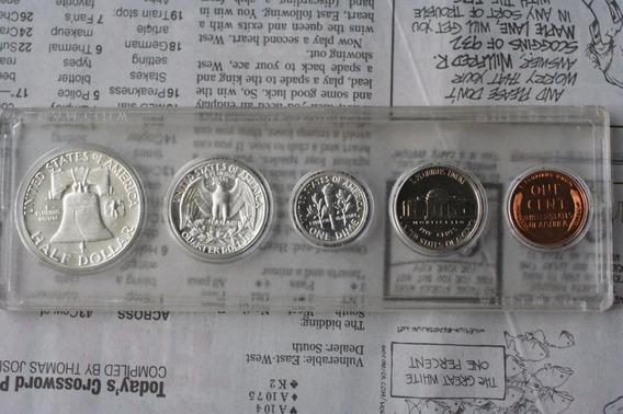 1954 Moneda Plata Proof Americano Eeuu Acabado Espejo