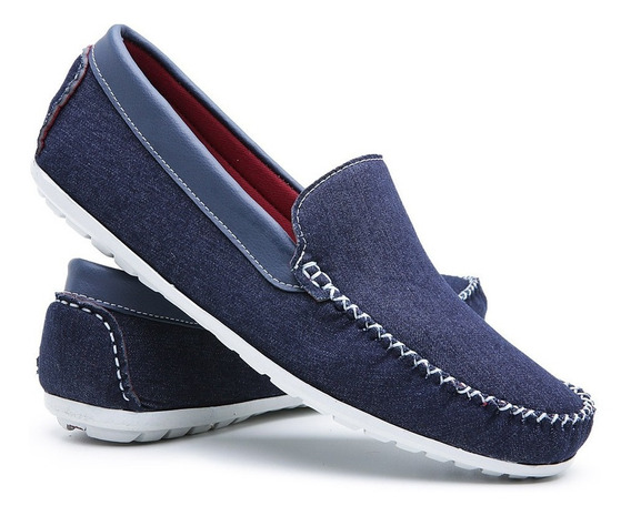Mocassim Casual Dockside Sapatenis Masculino Jeans 588