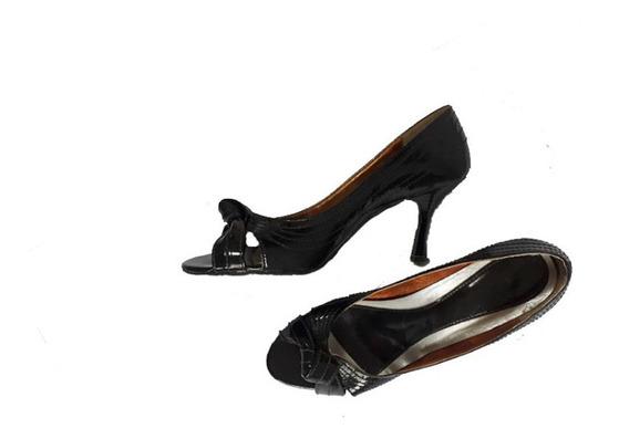 Sapato Preto Verniz Tamanho 37 Salto +- 6cm.