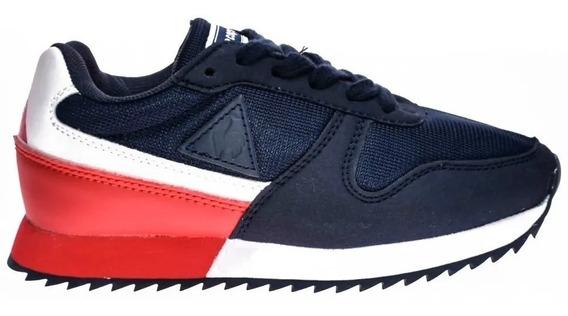 Zapatillas Le Coq Sportif Niños Alpha 2 Jr Azul - Rojo